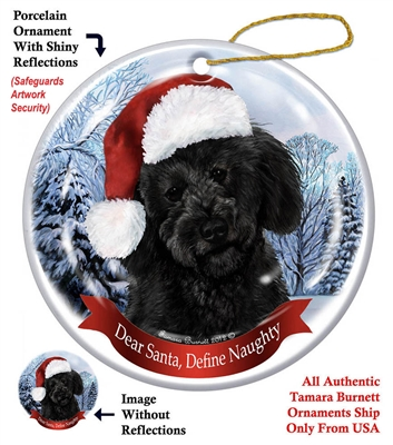 Labradoodle (Black) Ornament - Made in the USA