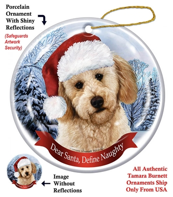 Labradoodle (Yellow) Ornament - Made in the USA