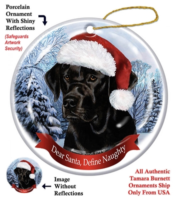 Labrador (Black) Ornament - Made in the USA