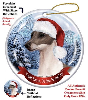 Italian Greyhound (Blue) Ornament - Made in the USA
