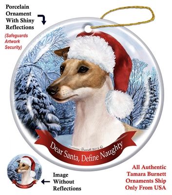 Italian Greyhound (Fawn) Ornament - Made in the USA