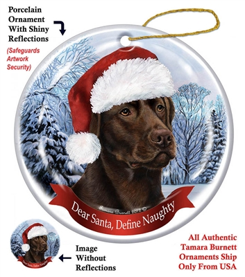 Labrador (Chocolate) Ornament - Made in the USA