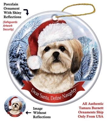Lhasa Apso Ornament - Made in the USA