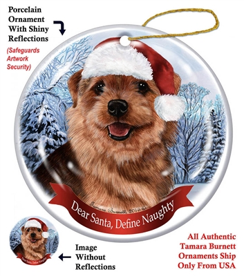 Norfolk Terrier Holiday Ornament - Made in the USA