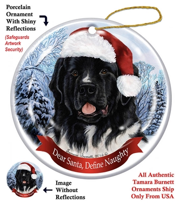 Newfoundland Landseer Holiday Ornament - Made in the USA