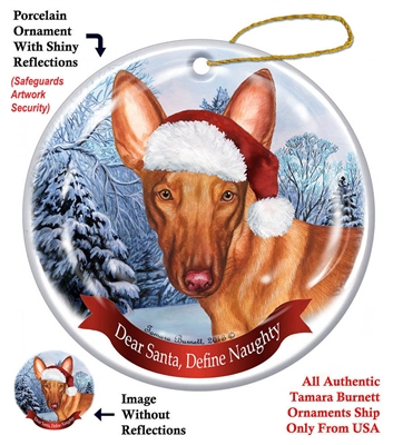 Pharaoh Hound Holiday Ornament - Made in the USA
