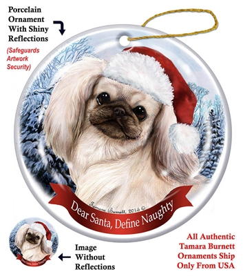Pekingese (Cream & Sable) Holiday Ornament - Made in the USA