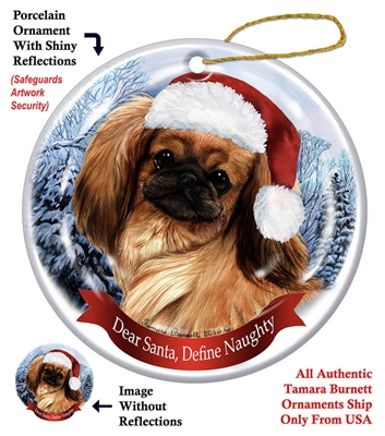 Pekingese Holiday Ornament - Made in the USA