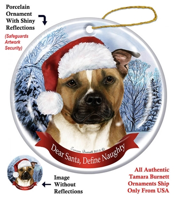 Pit Bull Holiday Ornament - Made in the USA
