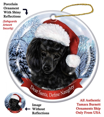 Poodle (Black) Holiday Ornament - Made in the USA