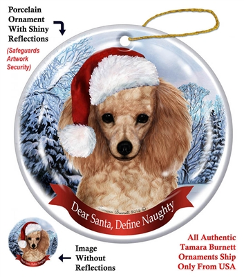 Poodle (Apricot) Holiday Ornament - Made in the USA