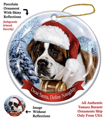 Saint Bernard Holiday Ornament - Made in the USA