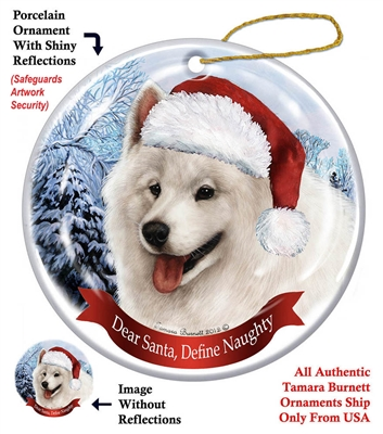 Samoyed Holiday Ornament - Made in the USA