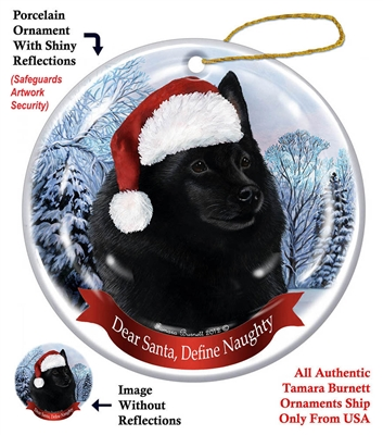 Schipperke Holiday Ornament - Made in the USA