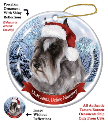 Schnauzer (Cropped) Holiday Ornament - Made in the USA