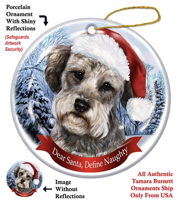 Schnoodle Black Black Holiday Ornament - Made in the USA