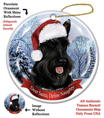 Scottish Terrier Black Holiday Ornament - Made in the USA