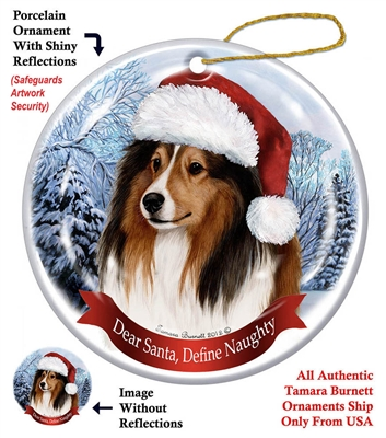 Sheltie Holiday Ornament - Made in the USA