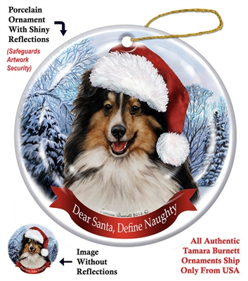 Sheltie (Tri-Color) Holiday Ornament - Made in the USA