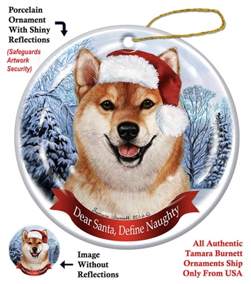 Shiba Inu Holiday Ornament - Made in the USA