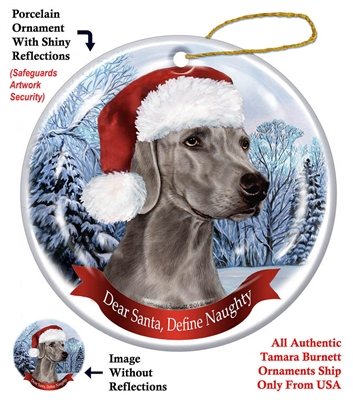 Weimaraner Holiday Ornament - Made in the USA