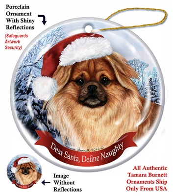 Tibetan Spaniel Fawn Holiday Ornament - Made in the USA