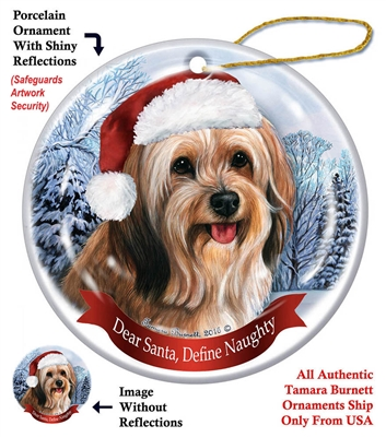 Tibetan Terrier Sable Holiday Ornament - Made in the USA