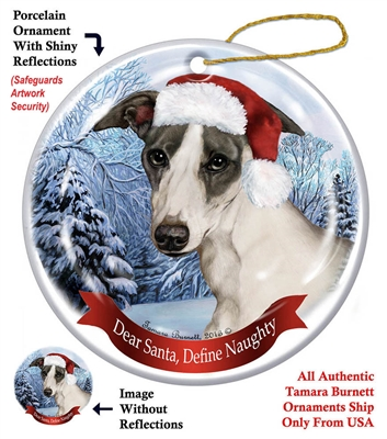 Whippet Holiday Ornament - Made in the USA