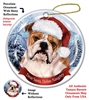 English Bulldog (Tan & White) Holiday Ornament - Made in the USA