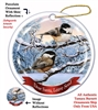 Black Capped Chickadee Holiday Ornament - Made in the USA