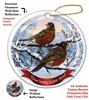 American Robin Holiday Ornament - Made in the USA