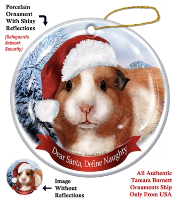 Guinea Pig Ornament - Made in the USA