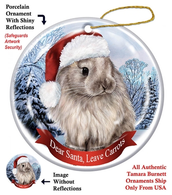 Jersey Wooly Rabbit Ornament - Made in the USA