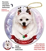 American Eskimo - Up to Snow Good Holiday Ornament - Made in the USA