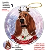 Basset Red and White - Up to Snow Good Holiday Ornament - Made in the USA
