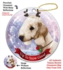 Bedling Terrier Sandy - Up to Snow Good Holiday Ornament - Made in the USA