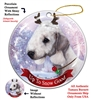 Bedling Terrier Blue - Up to Snow Good Holiday Ornament - Made in the USA