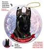 Belgian Malinois Black - Up to Snow Good Holiday Ornament - Made in the USA