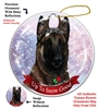 Belgian Malinois Dark Mahogany - Up to Snow Good Holiday Ornament - Made in the USA
