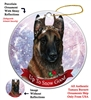 Belgian Malinois Mahogany - Up to Snow Good Holiday Ornament - Made in the USA