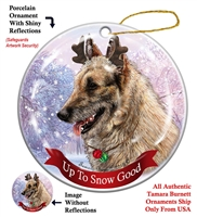 Belgian Laekenoios - Up to Snow Good Holiday Ornament - Made in the USA