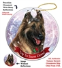 Belgian Tervuren Fawn - Up to Snow Good Holiday Ornament - Made in the USA