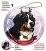 Bernese Mountain Dog - Up to Snow Good Holiday Ornament - Made in the USA