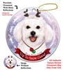 Bichon Frise - Up to Snow Good Holiday Ornament - Made in the USA