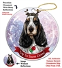 Eng Cocker Spaniel Tricolor - Up to Snow Good Holiday Ornament - Made in the USA
