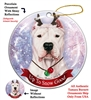 Dogo Argentino Cropped - Up to Snow Good Holiday Ornament - Made in the USA