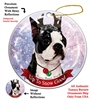 Boston Terrier - Up to Snow Good Holiday Ornament - Made in the USA