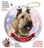 Bouvier Wheaton - Up to Snow Good Holiday Ornament - Made in the USA