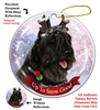 Bouvier Black- Up to Snow Good Holiday Ornament - Made in the USA