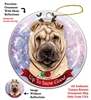 Shar Pei Cream - Up to Snow Good Holiday Ornament - Made in the USA